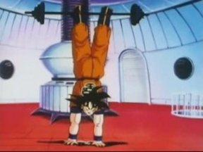 Goku entrenando